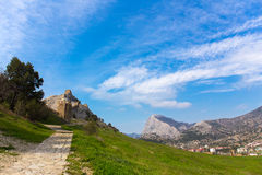 View of Genoese fortress Royalty Free Stock Photo