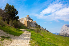 View of Genoese fortress Royalty Free Stock Photography