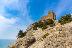 View of Genoese fortress Stock Images