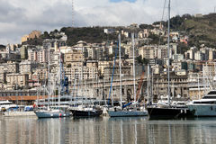 Genoa harbor Stock Image