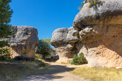 View of geological rocks in a mountain park Royalty Free Stock Images