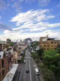 View of George Street in the Rocks, the historic district of Syd stock photos