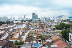 View of Georgetown CIty In Penang Malaysia Asia. Heritage Site George Town Cityscape View in Penang Malaysia Royalty Free Stock Photos