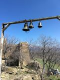 View of the Georgian bells. Under the blue sky stock photography