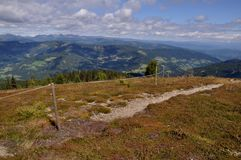 View from Gerlitzen summit to Carinthia, Austria Stock Image