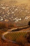 View of German Village along river Mosel Royalty Free Stock Photography