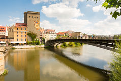 View from Germany to the polish city Zgorcelec Stock Images