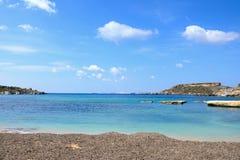 Ghaja Tehheiha Bay, Malta. Royalty Free Stock Photography