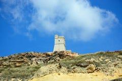 Ghajn Tuffieha Watchtower, Golden Bay. Stock Image