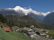 View from Ghandruk stock photography