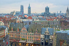 View of Ghent in Belgium royalty free stock photo