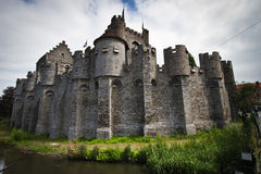 View of the Ghent Castle. Complete view of the Ghent Castle royalty free stock images