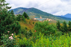 View of the Giant Buddha Dordenma statue from the city of Thimphu, Bhutan. South Asia Stock Photography