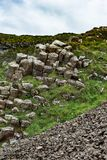 The Giant`s Causeway in County Antrim, Northern Ireland. View of The Giant`s Causeway in County Antrim, Northern Ireland royalty free stock image