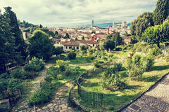 View from Giardino delle Rose to the city of Florence, Tuscany, Royalty Free Stock Photography