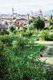 View from Giardino delle Rose to the city of Florence, Tuscany Stock Photography