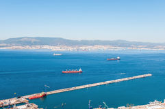 View of Gibraltar Bay Stock Photography
