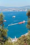 View of Gibraltar Bay Stock Photos