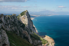 View of the Gibraltar rock Stock Photography
