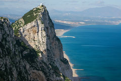 View of the Gibraltar rock Royalty Free Stock Images