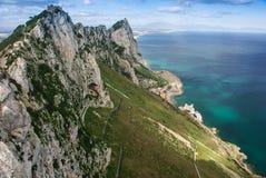 View of the Gibraltar rock Royalty Free Stock Photos