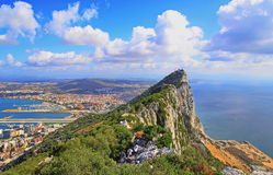 View of Gibraltar Royalty Free Stock Photos
