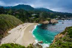 View of Gibson Beach, at Point Lobos State Natural Reserve, in C Royalty Free Stock Photos