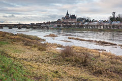 View of Gien and its castle Royalty Free Stock Images