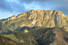 View of Giewont peak, Tatra mountains, Poland. Royalty Free Stock Image