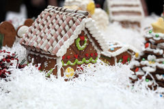 View of gingerbread house Stock Photography