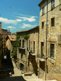 View of Girona. Streets royalty free stock photography