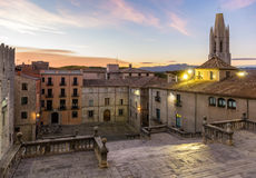 View from the Girona Cathedral - Catalonia, Spain Stock Photography