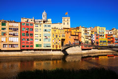 View of Girona in Girona, Spain Stock Photography