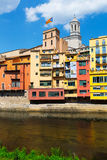 View of Girona with river Royalty Free Stock Image