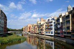 View of Girona, Spain Stock Images