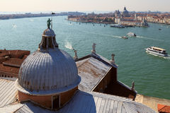 View of the Giudecca canal in Venice. Italy Royalty Free Stock Photos