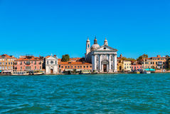 View from Giudecca canal, Venice, Italy. Stock Images