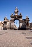 View of the Giuseppe Garibaldi triumphal arch Stock Photo