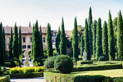 View of Giusti Palace and Garden in Verona Royalty Free Stock Images