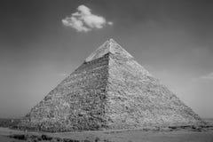 View of the Giza Pyramids. Egypt. Stock Photo