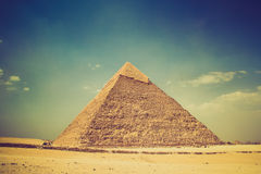 View of the Giza Pyramids. Egypt. Cairo. Stock Image