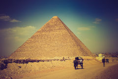 View of the Giza Pyramids. Egypt. Royalty Free Stock Images