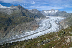 View on a glacier Aletsch Royalty Free Stock Images