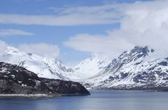 The View of Glacier Bay. The view of mountains, the glorious landscape in Glacier Bay national park, Alaska Stock Photography
