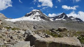 The view of the glacier Royalty Free Stock Photography