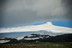 View at glacier Hvannadalshnukur summit in Iceland mountain landscape Vatnajokull park Stock Image