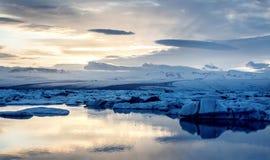 View of the glacier lagoon, Jokulsarlon, Iceland Royalty Free Stock Photo