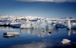 View of the glacier lagoon, Jokulsarlon, Iceland Stock Images