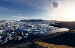 View of the glacier lagoon, Jokulsarlon, Iceland Stock Photography
