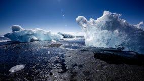 View of the glacier lagoon, Jokulsarlon, Iceland Stock Photos